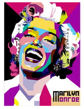 Marilyn Monroe Art Deco 11 x 8.5 Inch Abstract Fine Art Giclee CANVAS Print - $14.95