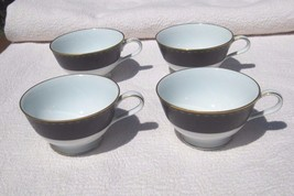 Noritake Benedicta 6976 Matte black cups  LOT o... - $17.95