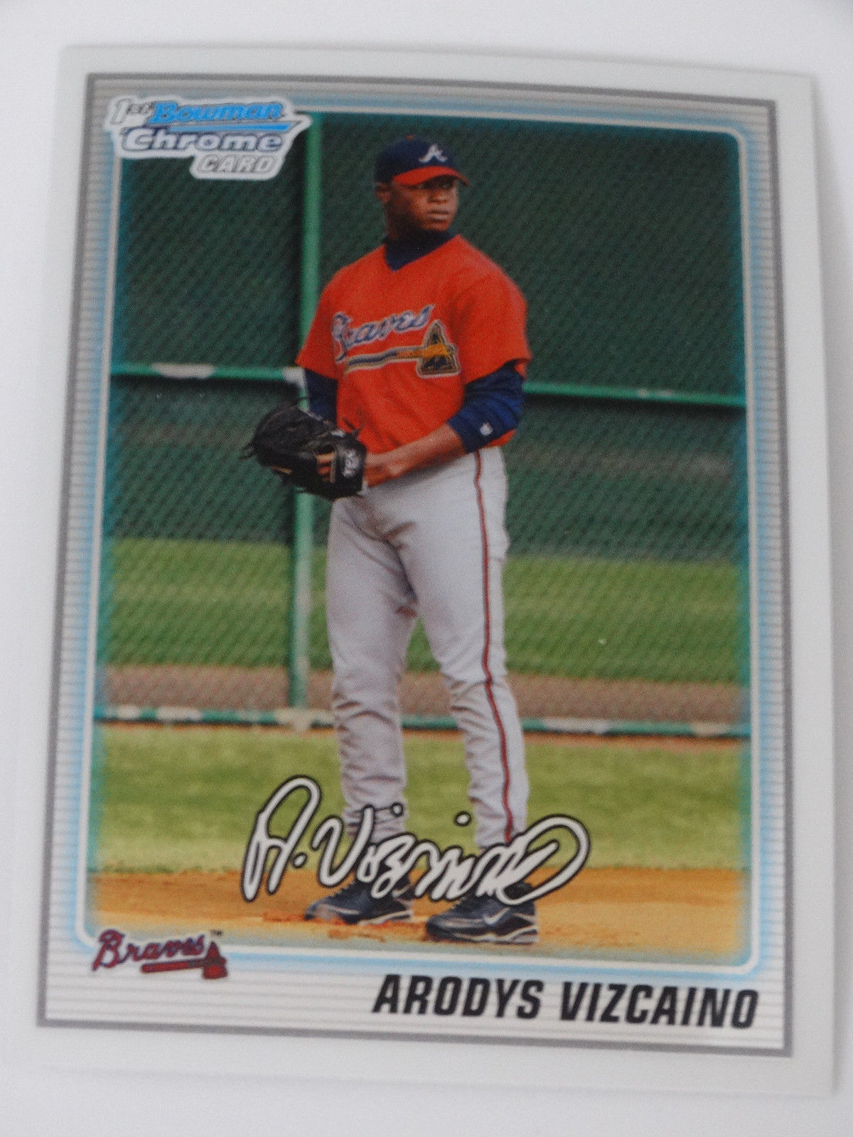 Primary image for 2010 Bowman Chrome BCP211 Arodys Vizcaino Atlanta Braves Rookie RC Baseball Card