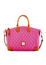 Handbag Dooney & Bourke Fuchsia Coated Cotton T... - $299.99