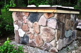 #OAF-03 Fieldstone Concrete Molds (12) Makes 100s of Garden Patio or Wall Stones image 5