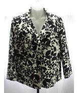 Chadwicks Classic Black/White Floral Design Lin... - $19.99
