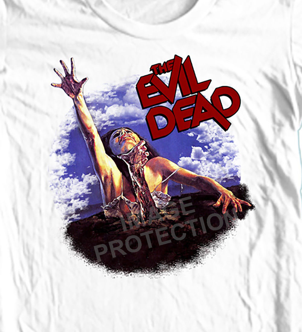 The Evil Dead T-shirt retro horror 80's movie  Army of Darkness 100% cotton tee