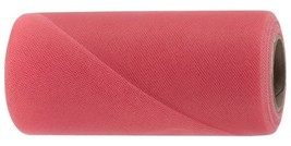 "Coral decorating tulle bolt each spool is 6"" x 25 yards for bows and draping - $2.69+"