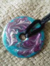 Hand Painted Reversible So YOUnique Solo Pendant (original creation) - $7.00