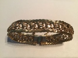 Vintage Rhythm 12kt Gold Filled Bracelet With Safety Chain - $74.25