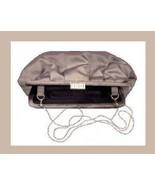 Gray and Black Satin and White Rhinestone Purse Handbag Evening Bag - $19.99