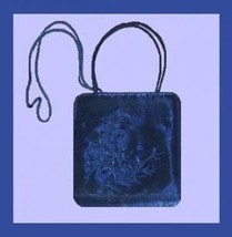 Royal Blue Satin & Embroidered Leaf Design Handmade Purse Evening Bag Ha... - $19.99