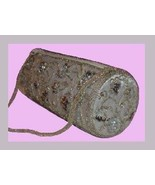 Silver Beads Sequins Beaded Strap Soft Satin Roll Purse Handbag Evening Bag - $19.99