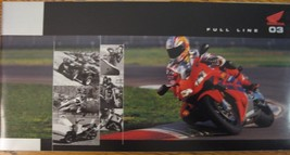 2003 Honda Full Line Motorcycle Brochure Touring Gold Wing Shadow Nighthawk ATV - $14.81