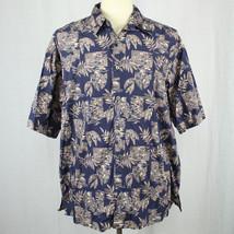 Cooke Street Honolulu Camp Aloha Hawaiian Blue Shirt 100% Cotton Men Sz ... - $23.38