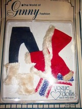 Ginny Doll Ski 1978 Outfit New in Blister Pak Red  White Fur Trim - $14.99