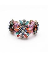 Design Jewelry Infinity Bracelet Personalised Retro Satin Rope Flower Charm - $21.73