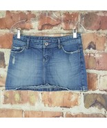 American Eagle Denim Skirt Womens Size 2 Mini Distressed Embellished - $12.87