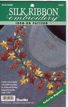 Silk Ribbon Embroidery Transfer Pattern~Denim Delight - $3.95