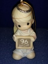 1996 Precious Moments Annual Hanging Christmas Ornament # 183369 Peace On Earth. - $9.80