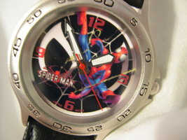 """C05, Spiderman by Marvel, Mens Watch, 8.5"""" Black Band,  w/battery - $19.79"""