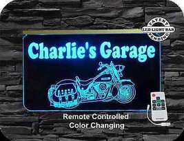 Motorcycle LED Sign, Man Cave, Garage Sign, Personalized Gift, Handmade image 1