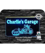 Motorcycle LED Sign, Man Cave, Garage Sign, Personalized Gift, Handmade - $138.60
