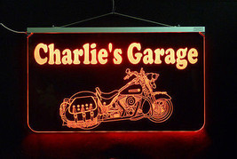 Motorcycle LED Sign, Man Cave, Garage Sign, Personalized Gift, Handmade image 2