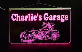 Motorcycle LED Sign, Man Cave, Garage Sign, Personalized Gift, Handmade image 3