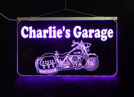 Motorcycle LED Sign, Man Cave, Garage Sign, Personalized Gift, Handmade image 4