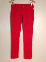 Arizona Jeans Co. Size 3 US 8 M Colored Jeans Red Denim Stretchy Super Skinny - $29.69