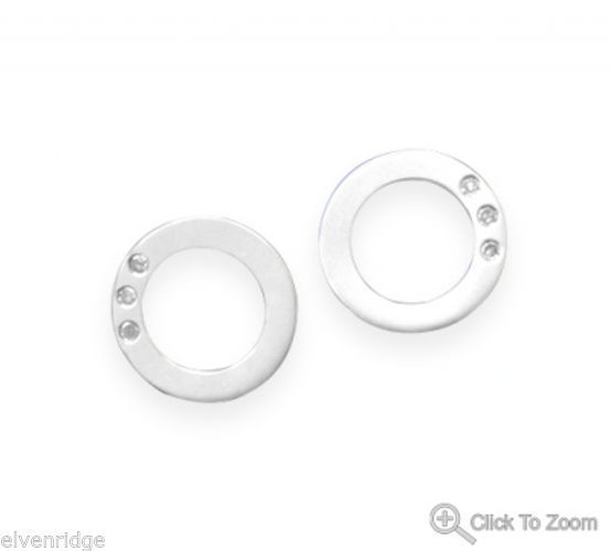 Circle of Life Earrings with Diamonds Sterling Silver