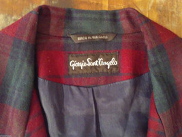 Giorgio Sant' Angelo Women's Size 12 Wool Blazer Plaid in Blue Red Green Yellow image 3