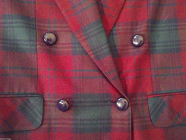 Giorgio Sant' Angelo Women's Size 12 Wool Blazer Plaid in Blue Red Green Yellow image 4