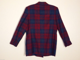 Giorgio Sant' Angelo Women's Size 12 Wool Blazer Plaid in Blue Red Green Yellow image 2