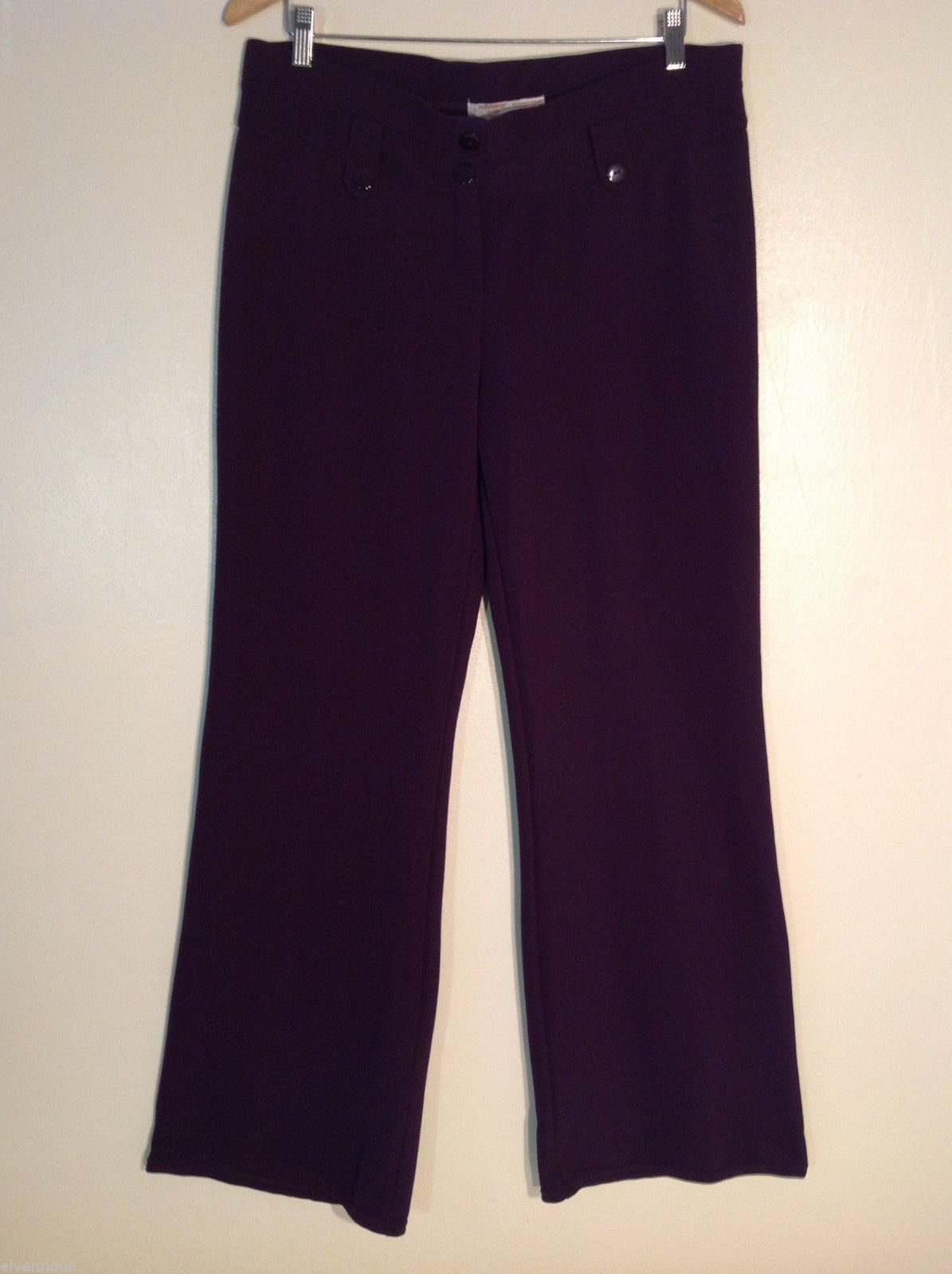 No Boundaries Women's Tall Size XL Pants Dark Purple Plum Eggplant Aubergine