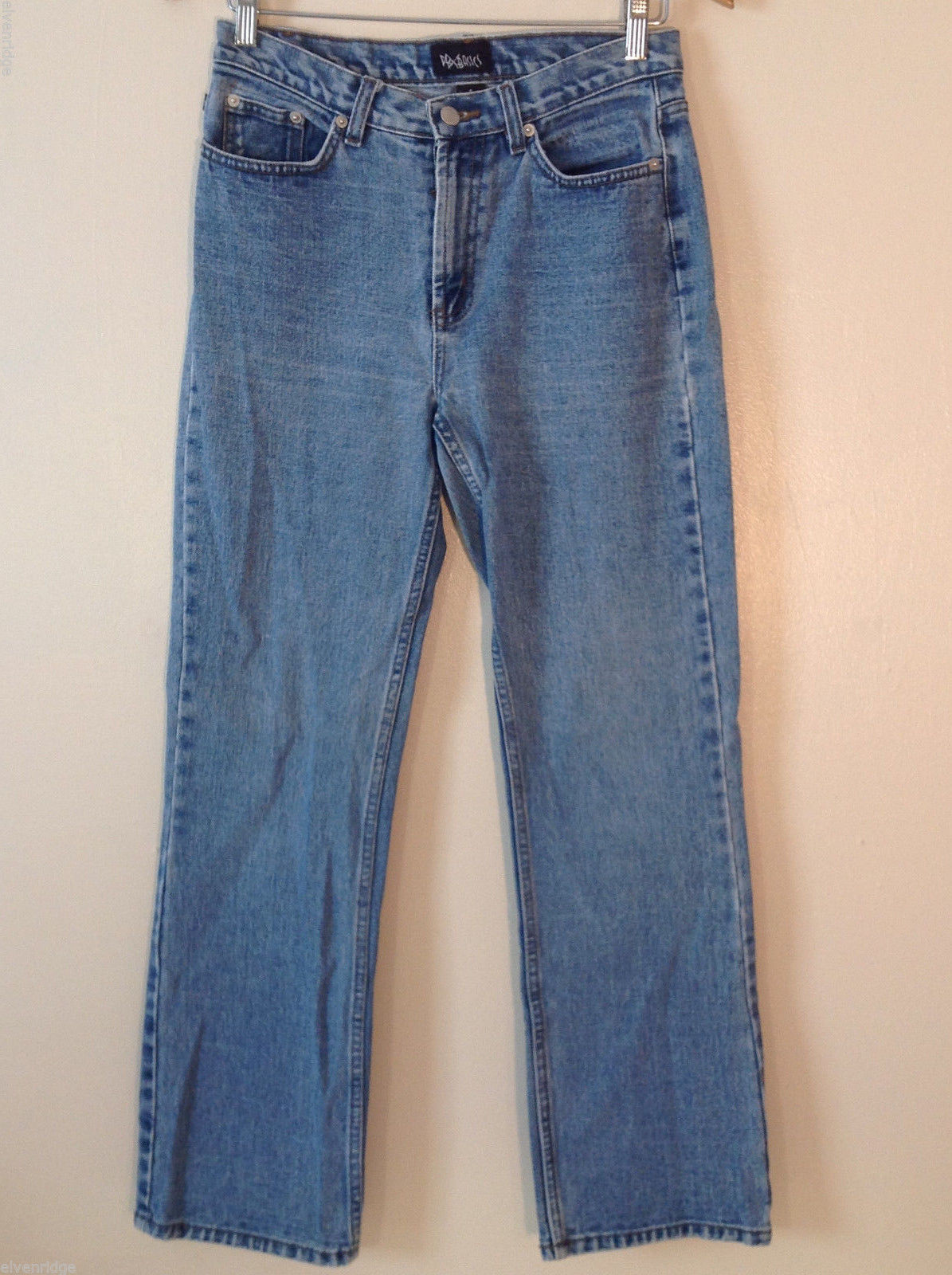 PBX Basics Women's Size 8 Denim Jeans Light Blue Wash Straight Leg High Waist