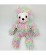 "18"" Hobby Lobby Rainbow SLOTH Pastels Tie Dye Plush Stuffed Animal Toy B350 - $39.99"
