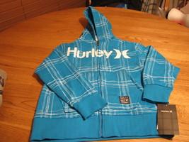 Jungen Jugend Surf 6 Hurley Kapuzenjacke Sweatshirt Atlantic Zyan Neu Nwt - $23.82
