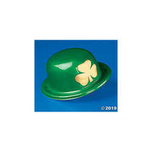 St Patrick's Day Derby Hats with Gold Shamrock (12 Pack) - $9.74