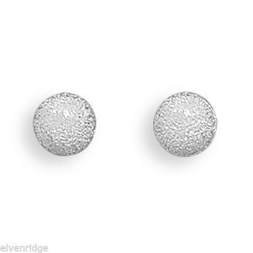 Stardust Ball Post Earrings Sterling Silver