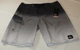 Quiksilver boardshorts 29 board swim shorts KVJ0 Drone Vee 21 29x21 black grey - $45.04