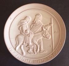 1968 Annual Christmas Plate Frankoma Pottery - Flight Into Egypt By John... - $25.25
