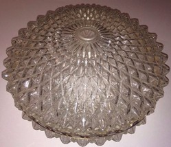 NEMO Old World Round Glass Ceiling Light Cover Fixture Circa 1972 Mid Ce... - $43.95