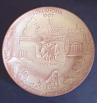 "Oklahoma 46th State 1907 John Frank Frankoma Plate 8"" EUC Will Rogers Tu... - $30.34"