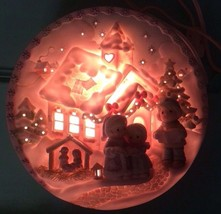 "Precious Moments ""Sugar Town"" Chapel Nightlight Lighted Plate 150304 Ene... - $30.34"