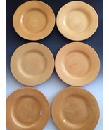 "POTTERY BARN SAUSALITO Amber Yellow Set Of 6 12"" DINNER PLATES Mexico PB... - $117.24"