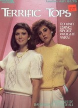 Terrific Tops LA421 Knitting Pattern Leaflet NEW 30 Days to Shop & Pay! - $2.67