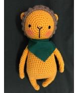 Handmade Crocheted Stuffed Animal Toy- Lion - $46.40