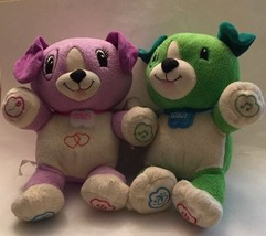 Leap Frog My Pal Violet Interactive Plush Talking Dog & Scout Green Dog ... - $30.34