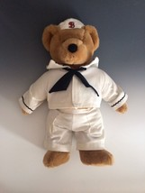 "Bialosky SALTY Teddy Bear Plush 15""   Jointed Stuffed Animal NAVY Sailor 1980s - $30.34"