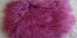 Real Purple Mongolian Tibetan Lamb Fur Pillow Cushion Cover Sofa Decorat... - $32.99+