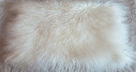 Mongolian Lamb Fur Pillow Cover Decorative Cushion Covers For Sofa Throw... - $31.99+