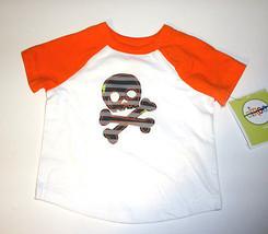 Circo Toddler Boys white/ Orange Skull  T-SHIRT Size 9 Months NWT - $4.40